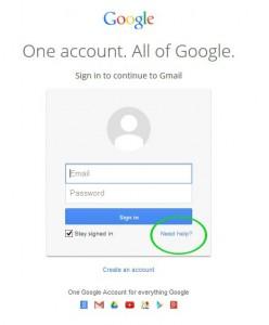 آموزش بازیابی رمز عبور و نام کاربری جیمیل 1 -  2014