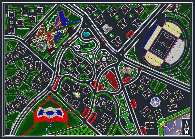 طرح شهرک مسکونی