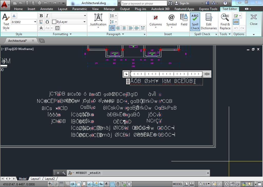 آموزش گام به گام حل مشکل عدم نمایش صحیح فونت فارسی اتوکد - 1
