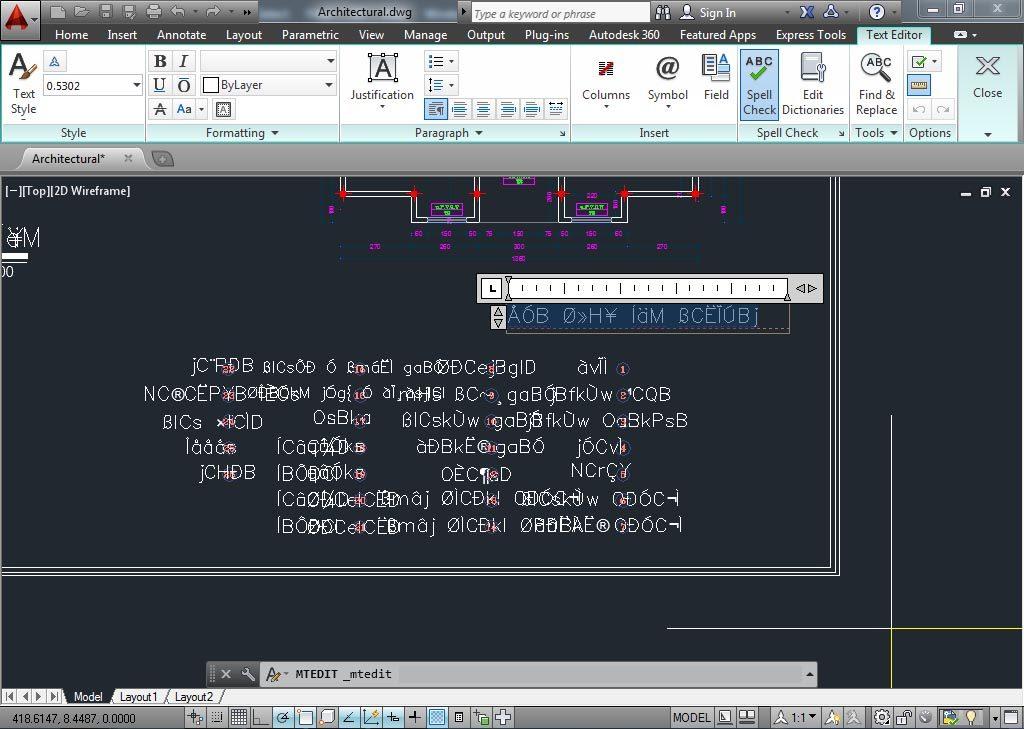 آموزش گام به گام حل مشکل عدم نمایش صحیح فونت فارسی اتوکد - 2