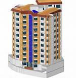 پلان و نمای آپارتمان ۳ طبقه