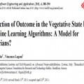 ترجمه مقاله Prediction of Outcome in the Vegetative State by Machine Learning Algorithms